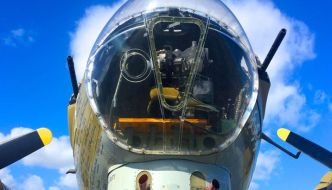 a picture of a B52 cockpit