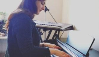 Grace Hancock playing the piano