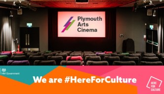 Plymouth Arts Cinema screen - here for culture