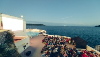 a cinema at Tinside Lido in Plymouth
