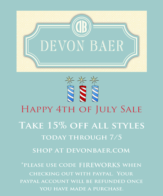 Happy 4th of July Sale