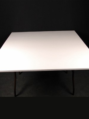4 ft x 4 ft square trestle table ( seats 8 people, or 2 people per side if pushed together in a long line )
