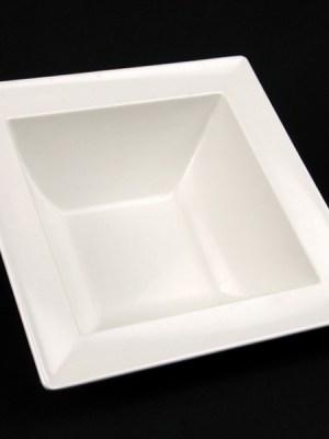 "Square Bowl White China Hire 10"""