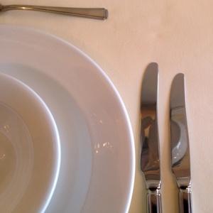 """IVORY LINEN TABLELOTH 54"""" x 54"""""""