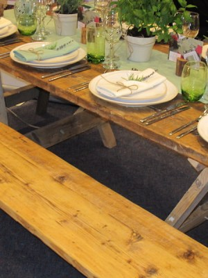 Vintage Chair / Bench Hire Plank