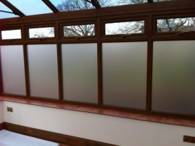 Conservatory with Opal Frost filmConservatory with Opal Frost film