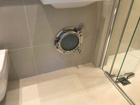 Frosted Bathroom Porthole Glass