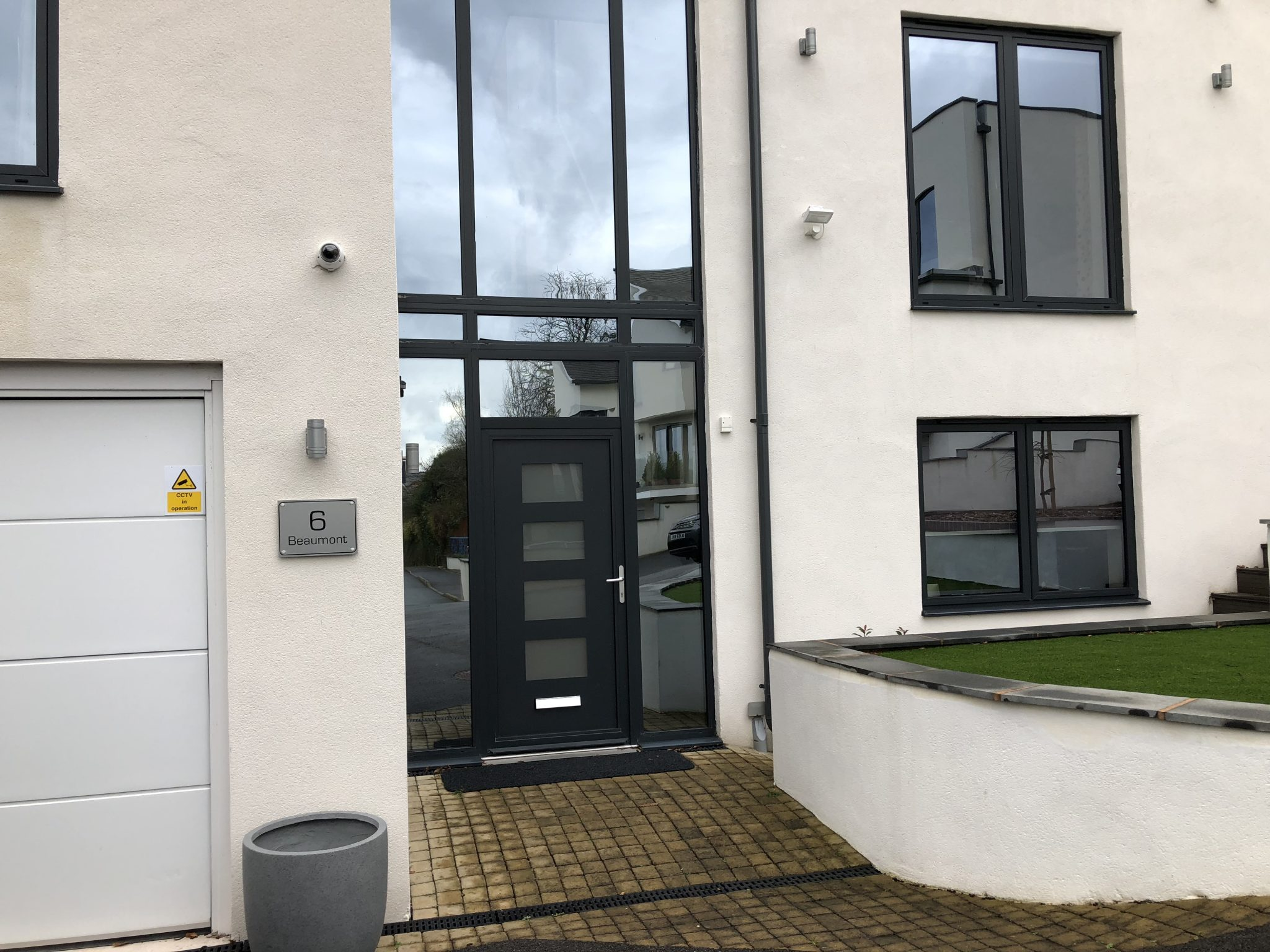 Silver Reflective Privacy Film Exeter after installation