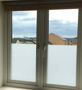 Frosted Window Film, Day and Night-time Privacy, Matte Translucent Window Film, Subtle Sandblasted finish