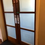 Hanita Matte 2 Mil Frosted Window Film on Internal Doors for Privacy