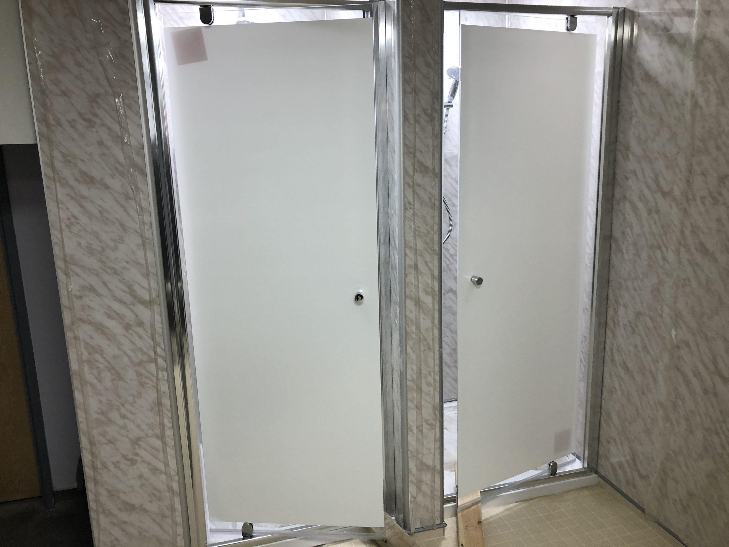 Shower Door Window Film White Opaque
