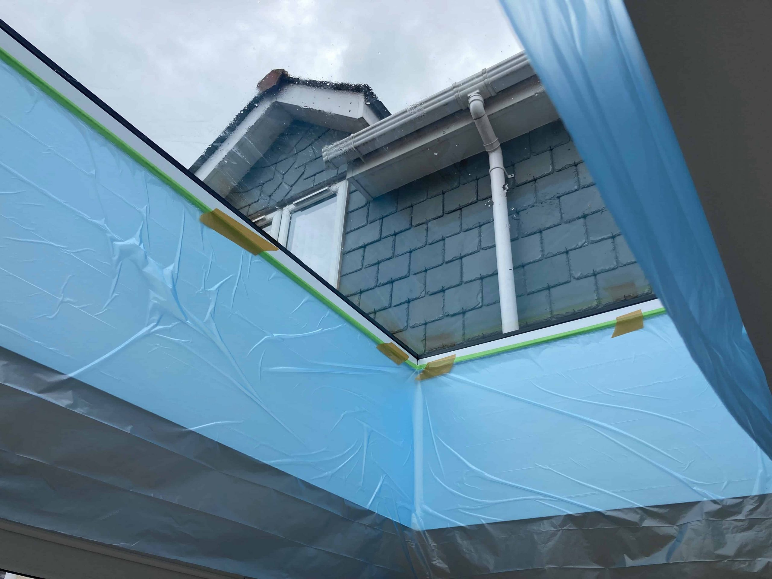 Skylight Plaster Wall Protection from Water