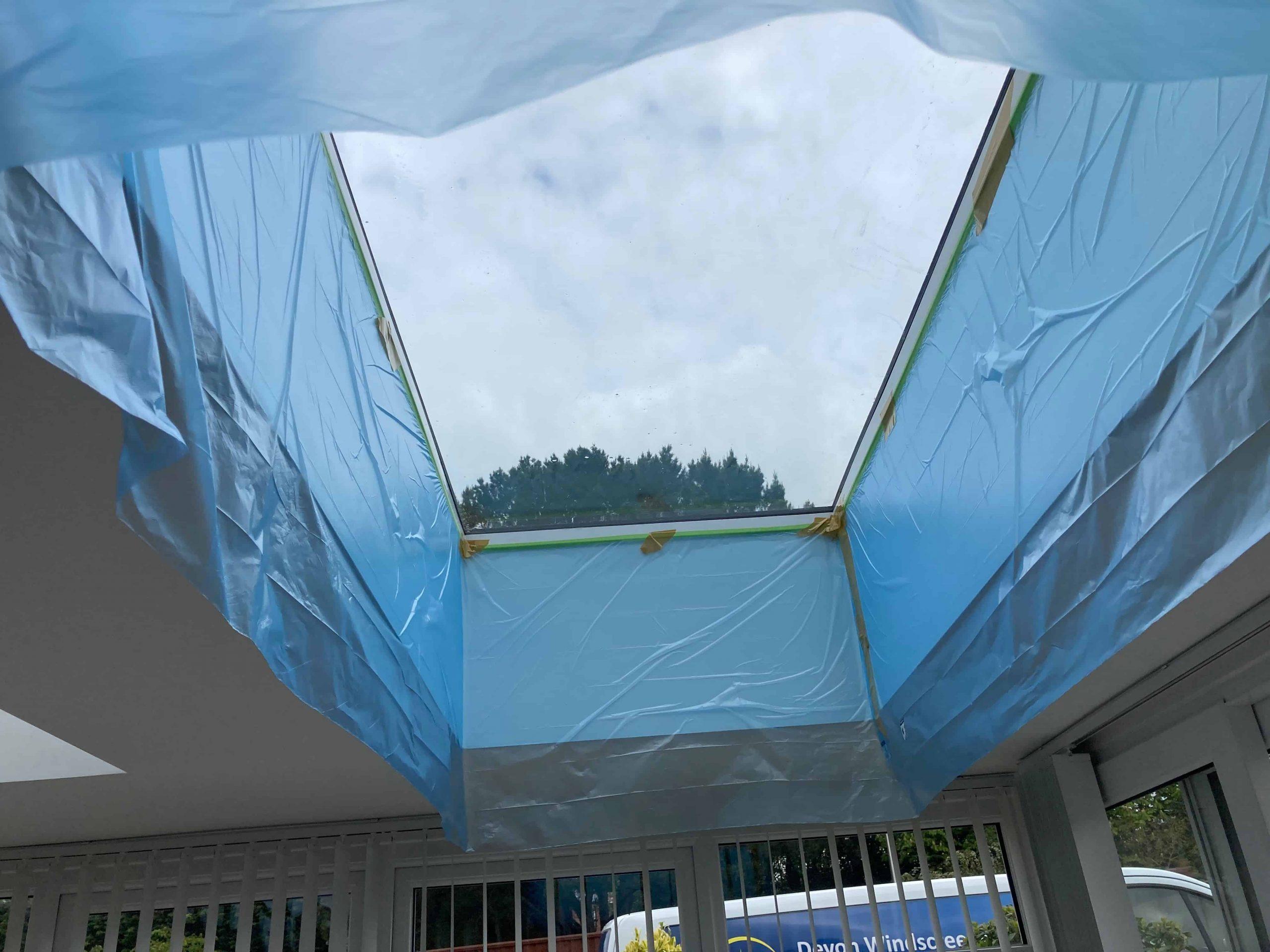 Skylight Preparation for Window Film MBL20