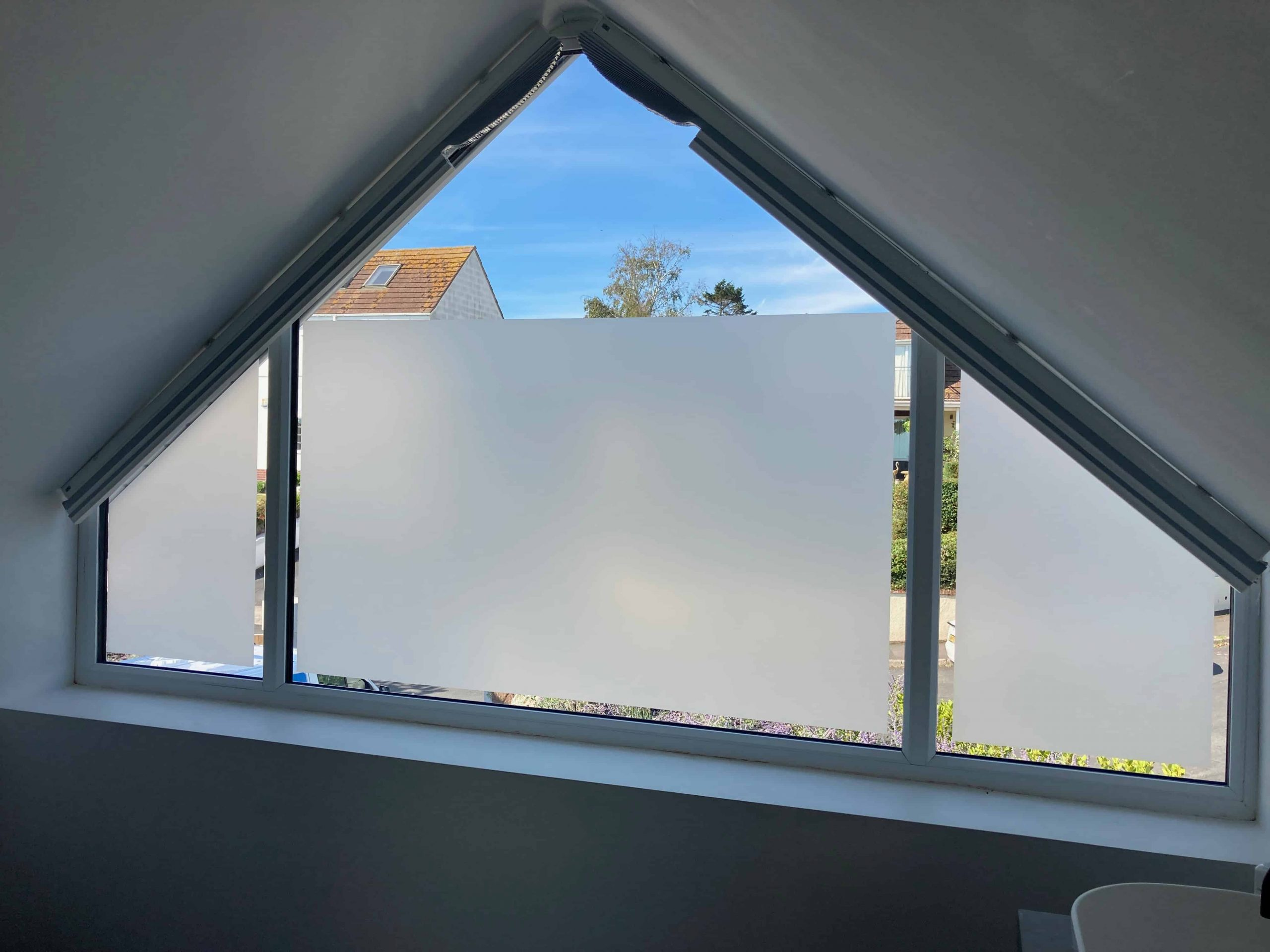 Hanita Matte Frosted Window Film with Vision Gap