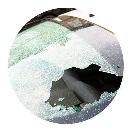 Smashed Heated Rear Windscreen