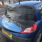 Renault Megane Shattered Rear Windscreen