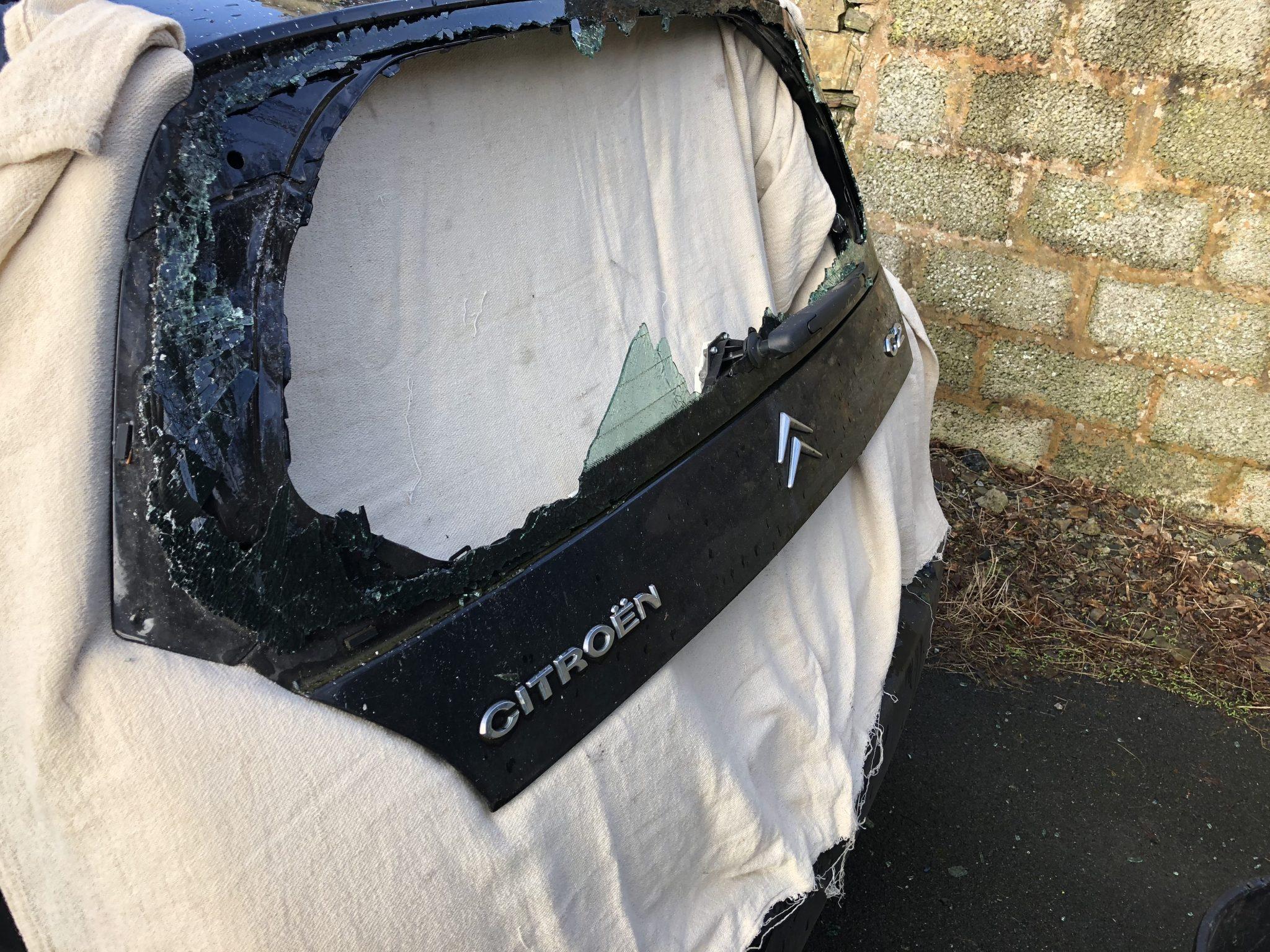 Citroen C2 Smashed Rear Window