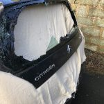 Citroen C2 Smashed Rear Window