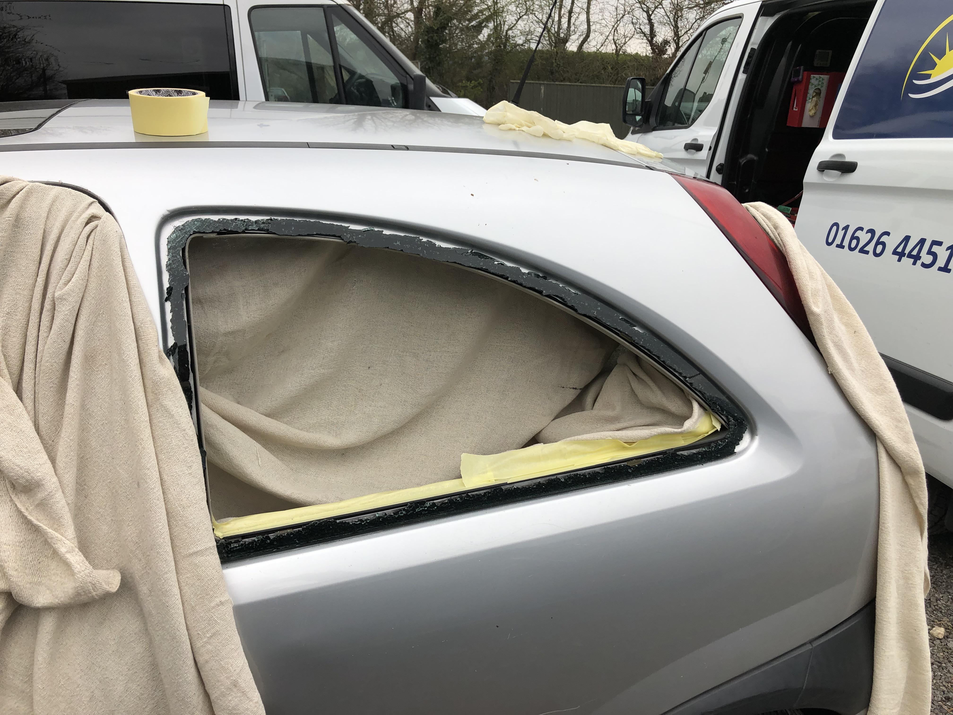 Vauxhall Corsa Smashed Window