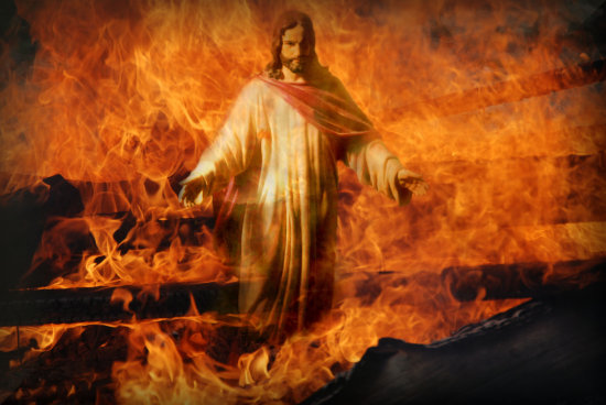 jesus and fire
