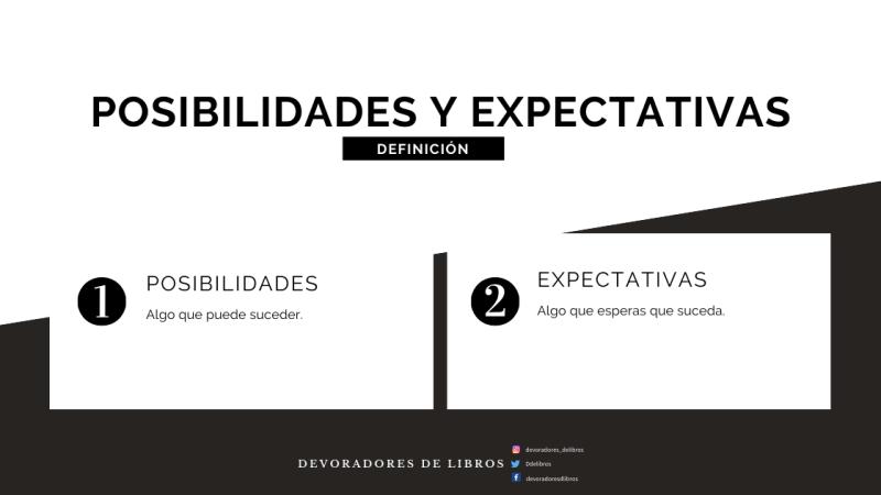 diferencia entre posibilidades y expectativas
