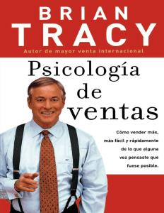 Libro Psicología de ventas Brian Tracy