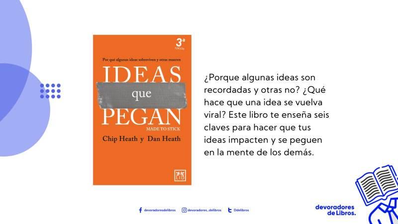 foto del libro ideas que pegan de Chip Heath y Dan heath