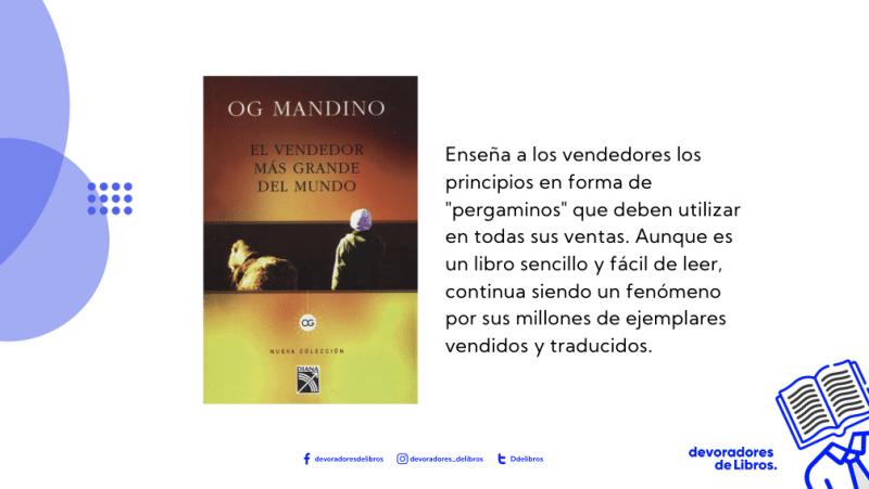 portada con mini resumen el vendedor mas grande del mundo de Og Mandino