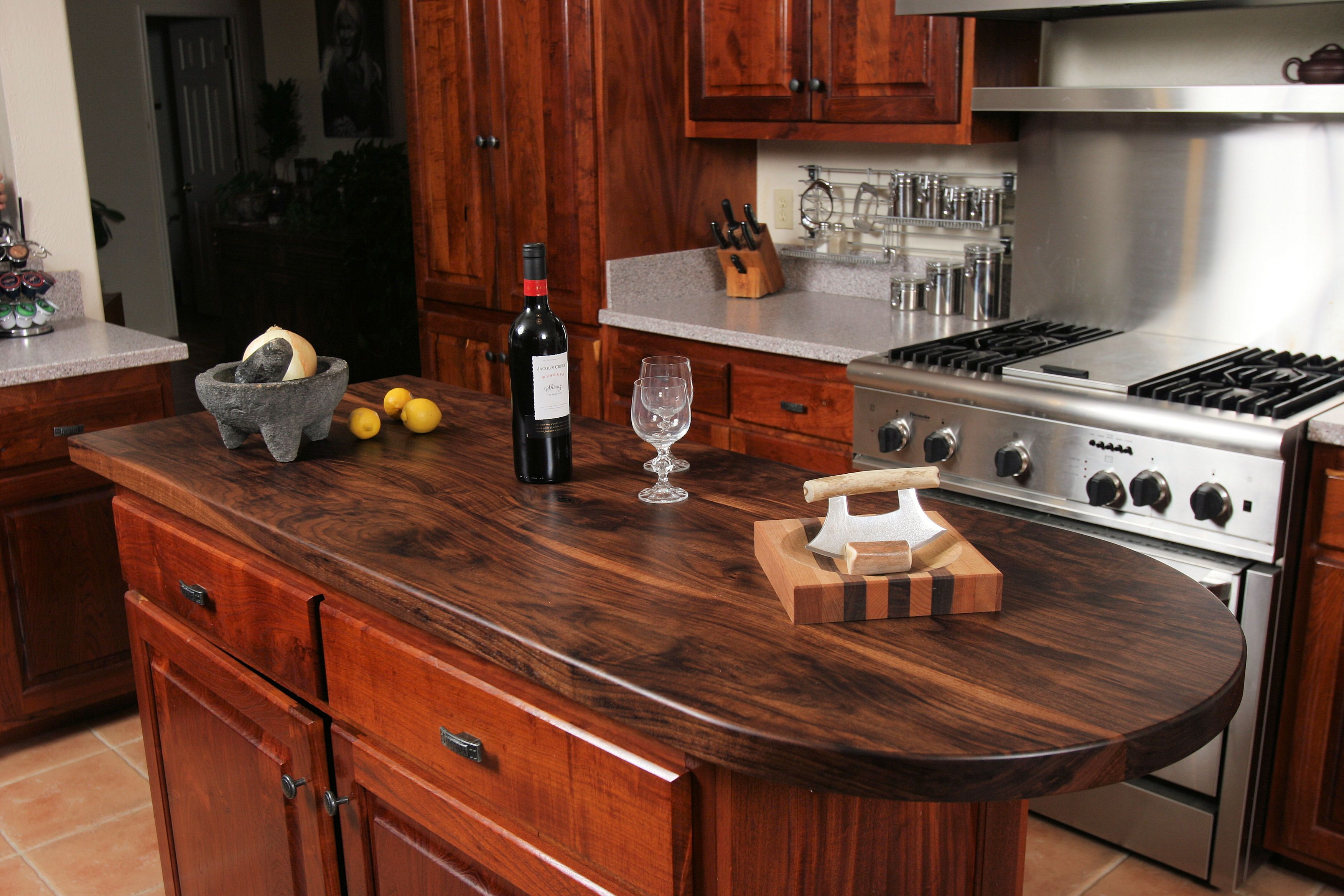 Best Kitchen Gallery: Custom Wood Countertop Options Finishes of 2x4 Kitchen Counter on rachelxblog.com