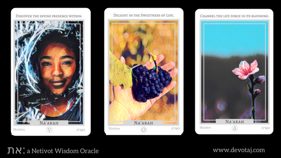 את: a Netivot Wisdom Oracle - Na'arah (Maiden) Cards
