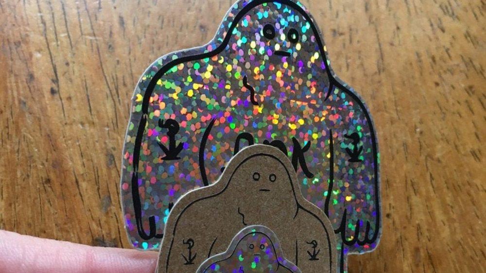 Glitter Golem Stickers