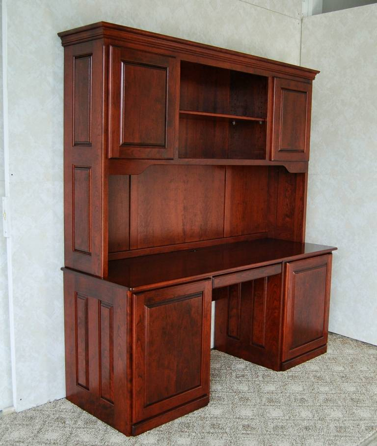 Cherry Wood Armoire Dresser