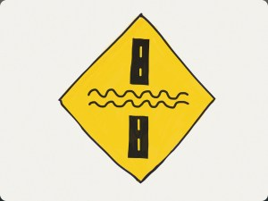 This caution sign warns drivers that there may be water flowing over the road. Thought we would add this at the end of the article as food for thought ;)