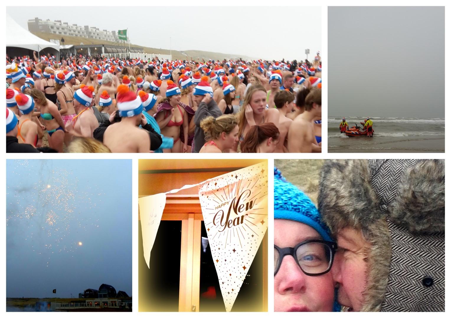 Egmond aan Zee : nieuwjaarsduik en nieuwjaarsdag
