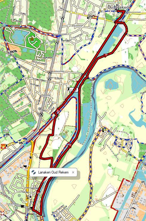 Overzichtskaart wandeling Oud-Rekem/Lanaken