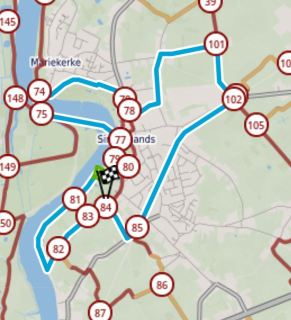 Kaart wandeling Scheldeland