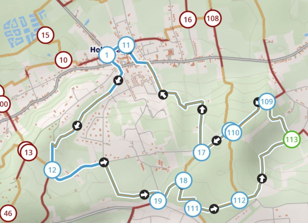 wandeling Chartreuzenberg wandelknooppunten