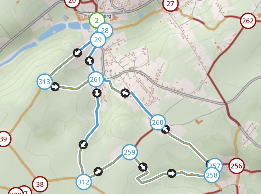 kaart wandeling