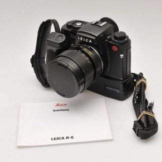 Leica RE met Vario-Elmar en motor winder