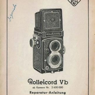 Duitse Rolleicord Vb reparatie handleiding