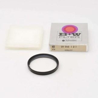 B+W E49 UV-filter zwart