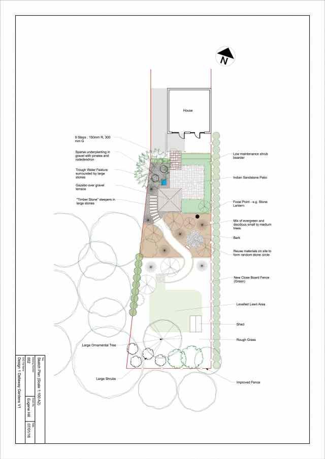 Sketch Plan - Dallaway Gardens, East Grinstead
