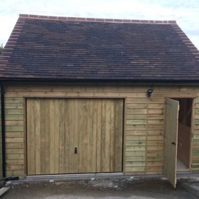 Completed garage, Deneside, East Grinstead