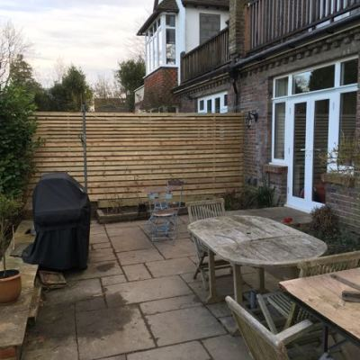 Horizontal Slatted Fence, East Grinstead