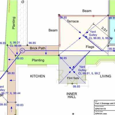 Drainage design, Whitegates