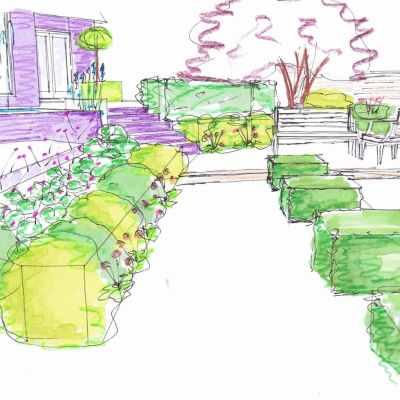 3D View - From Garden Room, Littlewood, Sussex