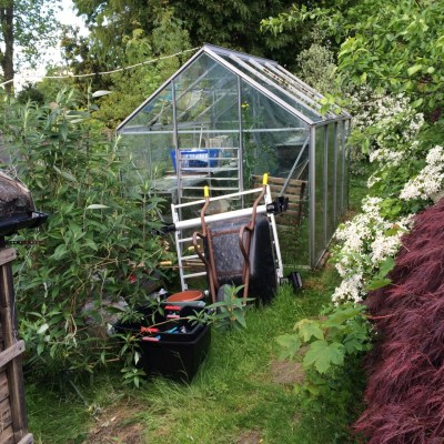 Greenhouse to be demolished, Littlewood, Sussex
