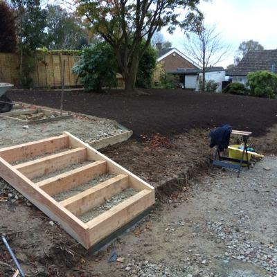 Steps in progress, Littlewood, Sussex