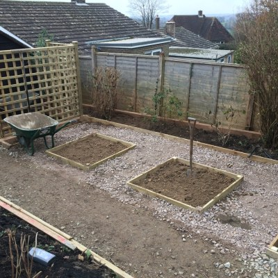 Construction of planting beds, Littlewood, Sussex
