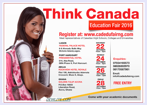 School in Canada: Register For Think Canada Education Fair Here